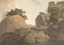 S.E. view of the Fakeer's Rock in the River Ganges